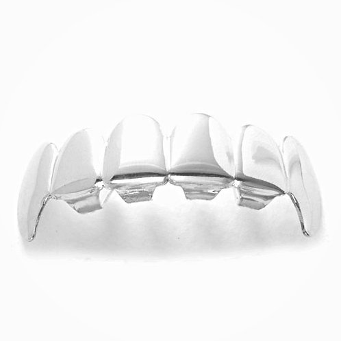 PLAIN DRACULA TOP GRILLZ PLATINUM