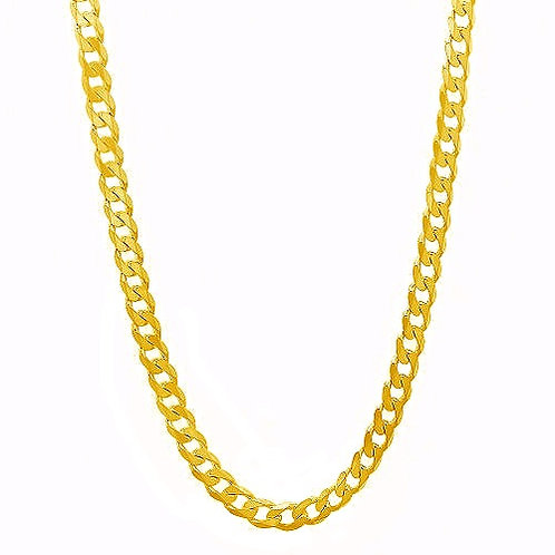 FLAT CUT CUBAN 3MM/4MM GOLD