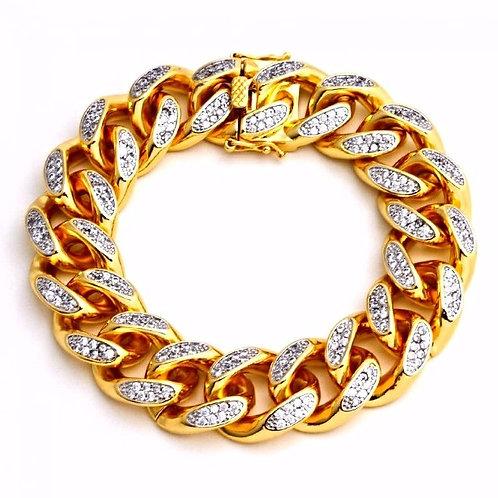 MICRO PAVED MIAMI CUBAN BRACELET GOLD