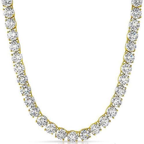 200 CARAT 8MM LAB MADE DIAMONDS HIGH POLISHED TENNIS CHAIN GOLD