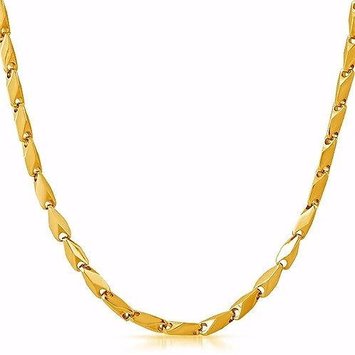 DIAMOND LINK BULLET 4MM CHAIN GOLD