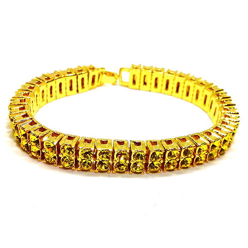 PHARAOH 2 ROW LEMONADE CZ GOLD