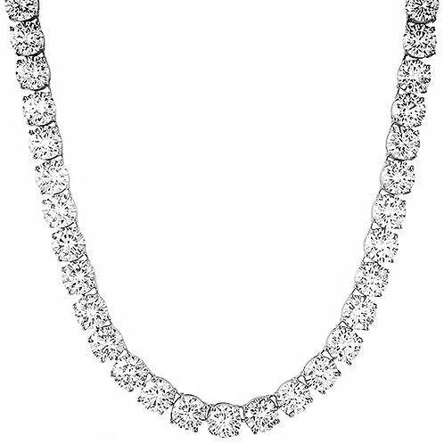 200 CARAT 8MM LAB MADE DIAMONDS HIGH POLISHED TENNIS CHAIN