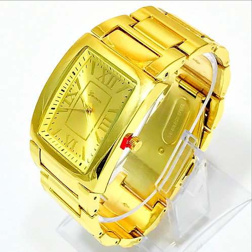 RECTANGLE FACE POLISHED WATCH
