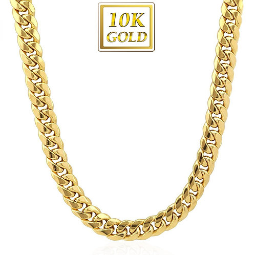 HIGH POLISHED MIAMI CUBAN 8MM CHAIN 10K SOLID GOLD
