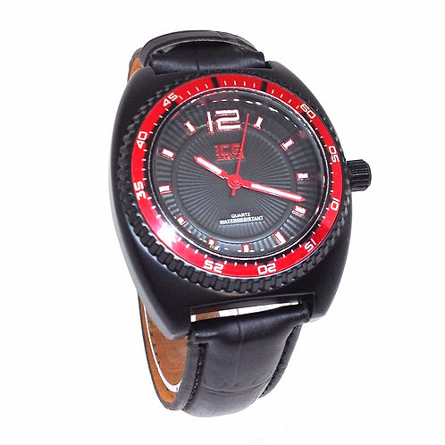 ICE MASTER BLACK & RED FASHION WATCH #1