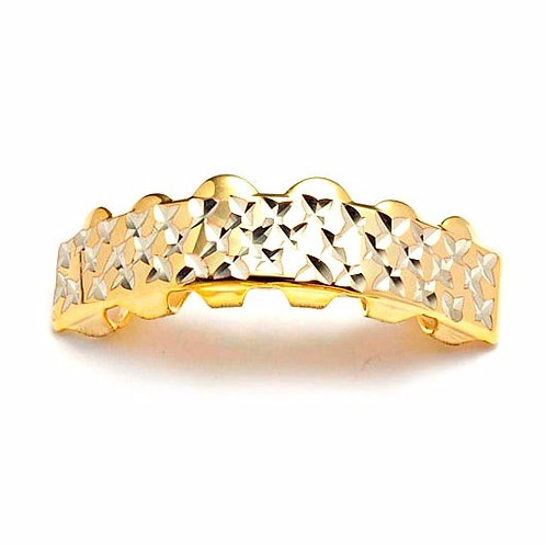 DIAMOND CUT FLAT BAR TOP GRILLZ GOLD