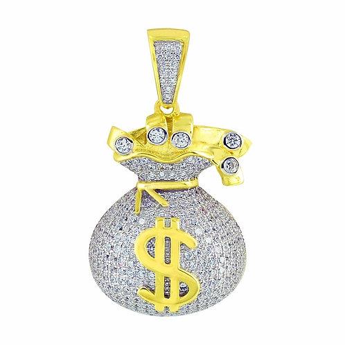 MONEY BAG DESIGN PENDANT GOLD