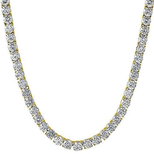 115 CARAT 6MM LAB MADE DIAMONDS HIGH POLISHED TENNIS CHAIN GOLD