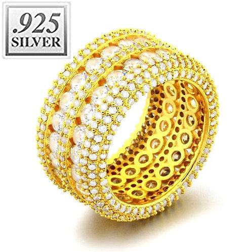 ULTIMATE CZ ETERNITY RING GOLD