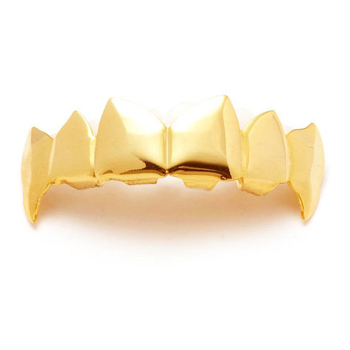 REFINED EDGE DRACULA TOP GRILLZ GOLD