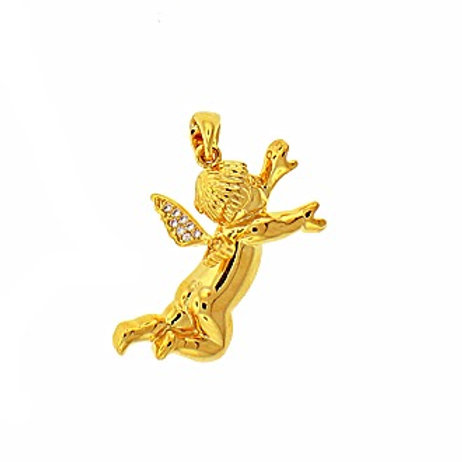 ORO COLLECTION FLYING BABY ANGEL MICRO PENDANT