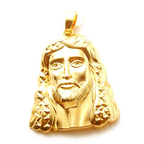 CLEAN LOOKING JESUS FACE GOLD