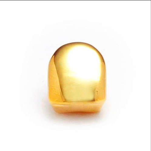 FRONT TOOTH CAP TOP GRILLZ GOLD