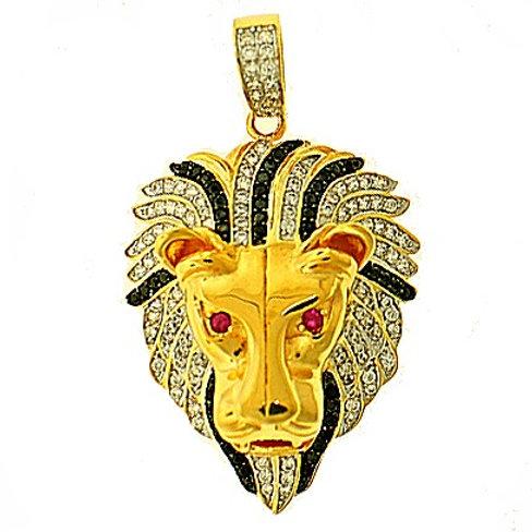 LION HEAD MICRO PAVE PENDANT