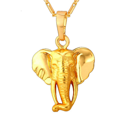 AFRICAN ELEPHANT CHARM NECKLACE SET