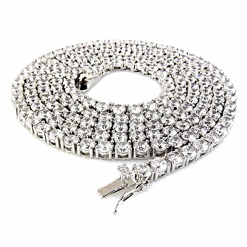 1 ROW LAB MADE DIAMOND 4MM TENNIS CHAIN PLATINUM