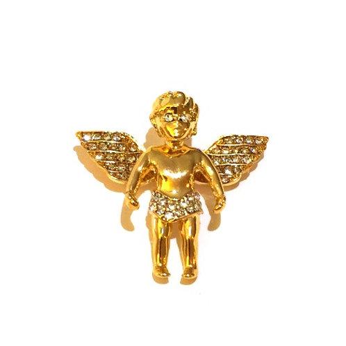 MINI BABY ANGEL PENDANT GOLD