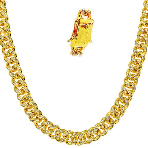 ICE VERSA SIGNATURE HIGH END ICED OUT MIAMI CUBAN 12MM CHAIN
