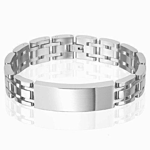 CLASSIC LINK WITH ID PLATE 14MM BRACELET