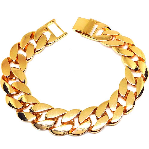 FAT CUBAN 15MM BRACELET GOLD