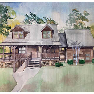 Cabin on Canvas