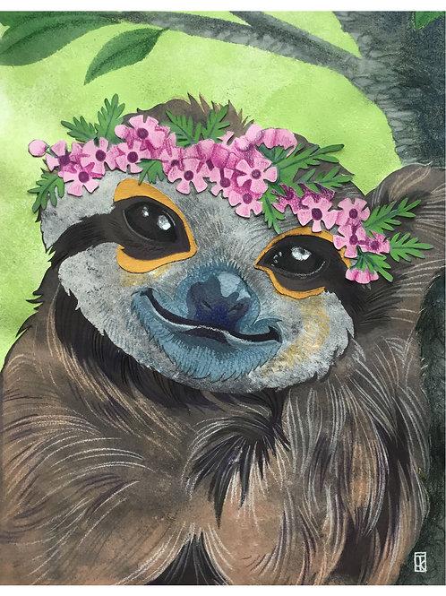 Flower Crown Sloth