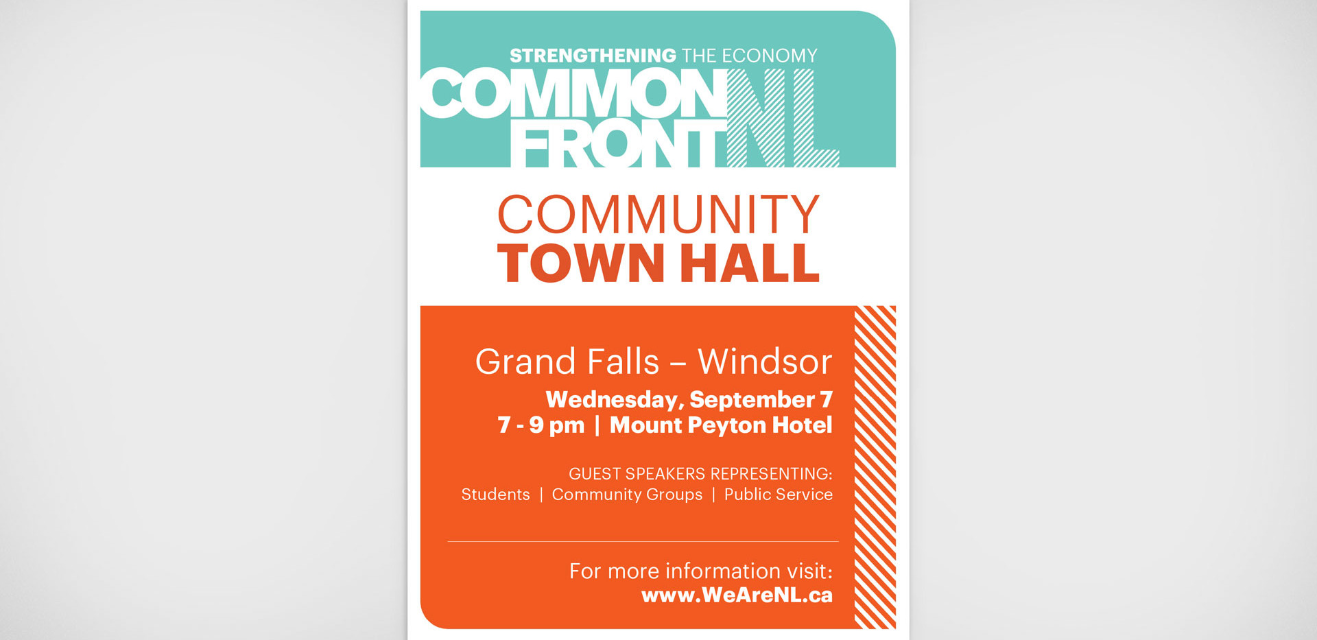 Common Front Event Poster