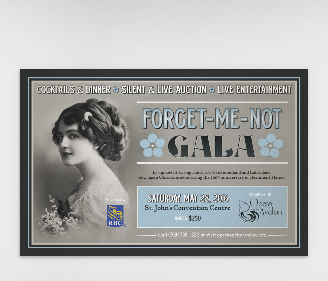 Forget-Me-Not Gala Poster