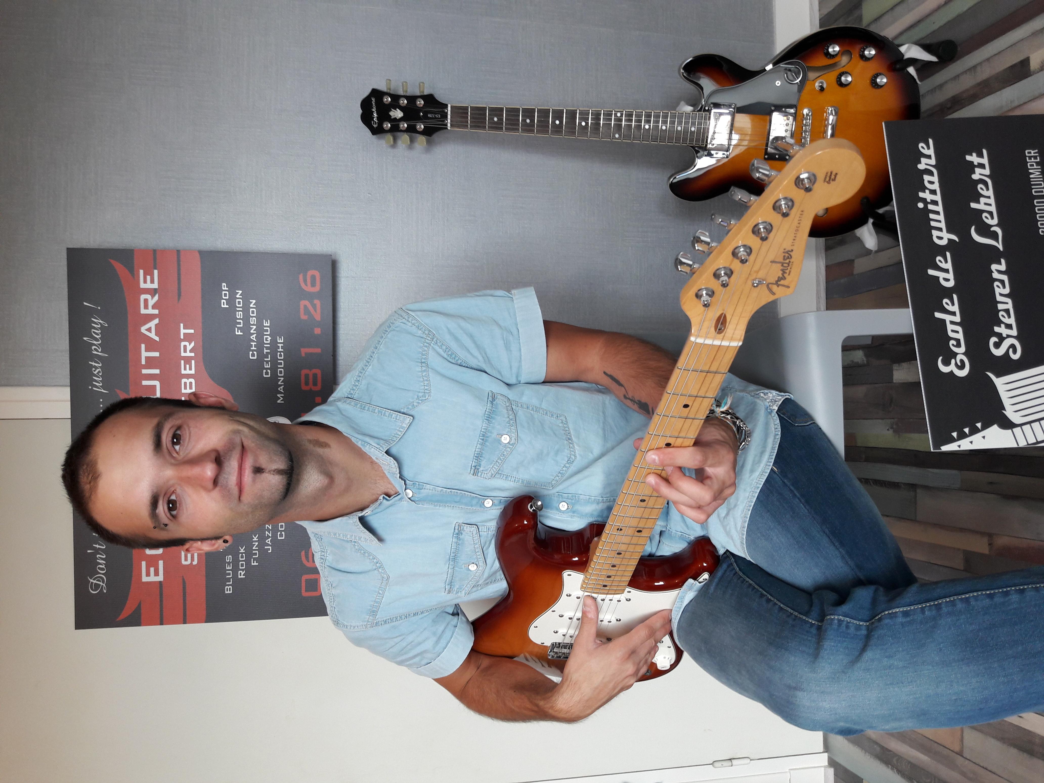 cours guitare quimper professeur