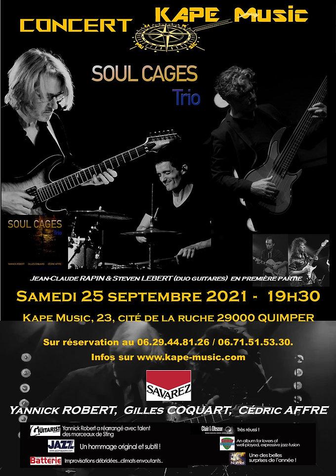 Kape Music Quimper concert Soul Cages Trio