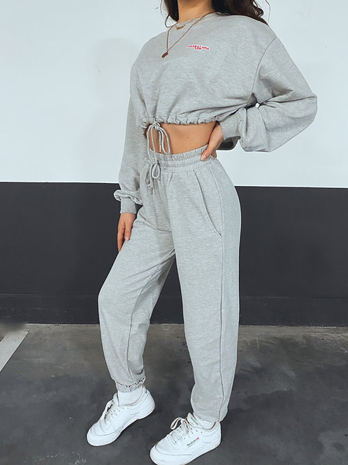 'ALPHA' Joggers & Cropped Sweater Set
