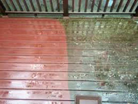 Wood Decking Power Washing