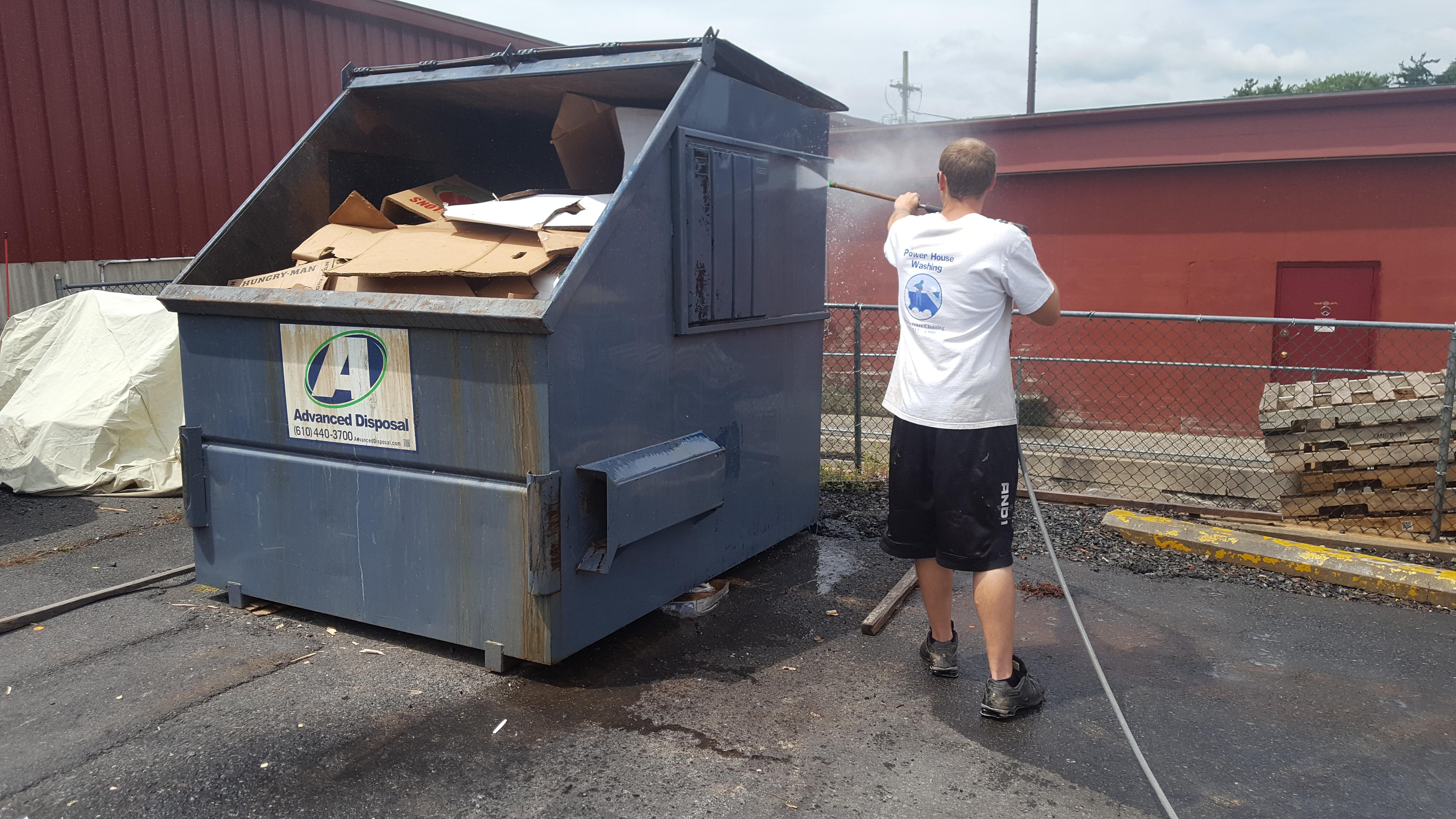 Dumpster Power Washing