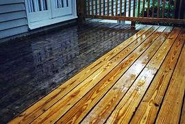 Wood Deck Power Washing