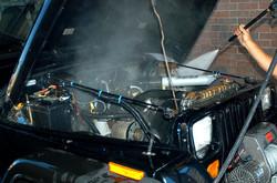 Engine Power Washing