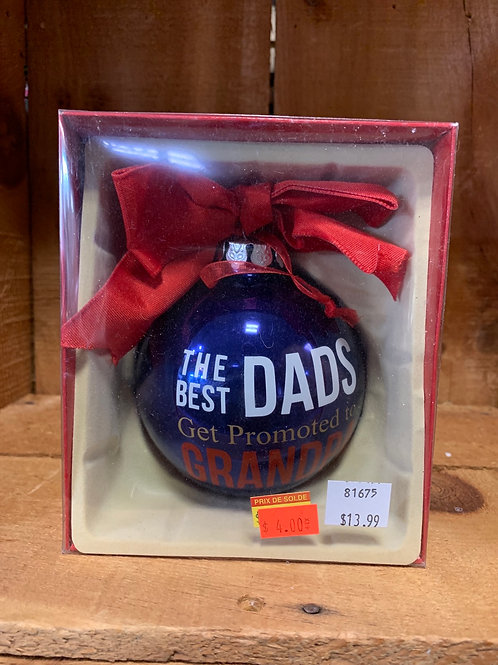 Grandpa Glass Ornament