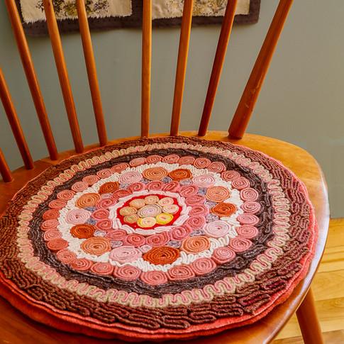 Orange Chair Pad