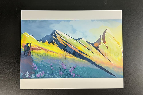 Mountain Pass-8.5x11 Art Print