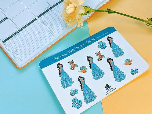 Jasmine (Delphinium Flower) Multi-Sticker Sheet
