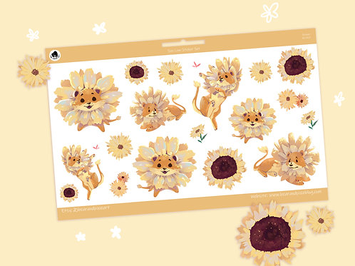 Sully the Sun-Lion Sticker Set - Cute Dandelion Lion Stickers