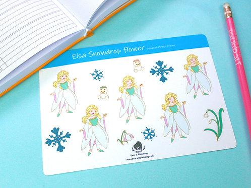 Elsa (Snowdrop Flower) Multi-Sticker Sheet