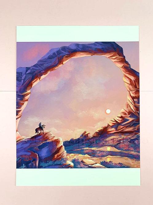 Wild West (Sunset Version) 8.5x11 Art Print