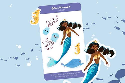 Mermaid Single Character Sticker Sets  - PICK THREE