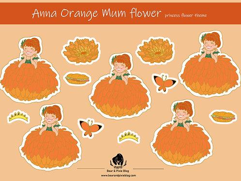 Anna (Orange Chrysanthemum Flower)