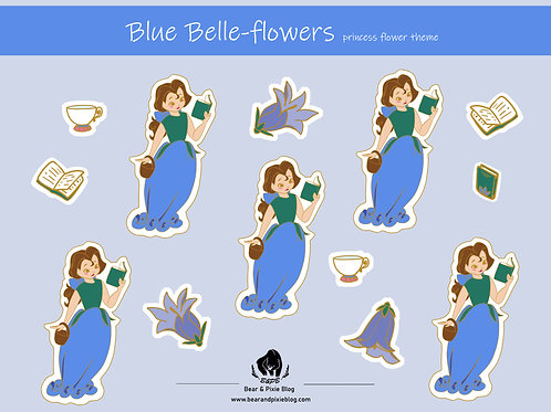 Belle (Bluebelle-Flowers) Multi-Sticker Sheet