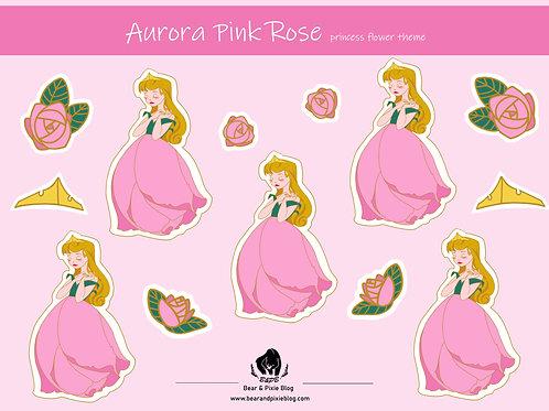 Aurora (Pink Rose) Multi-Sticker Sheet