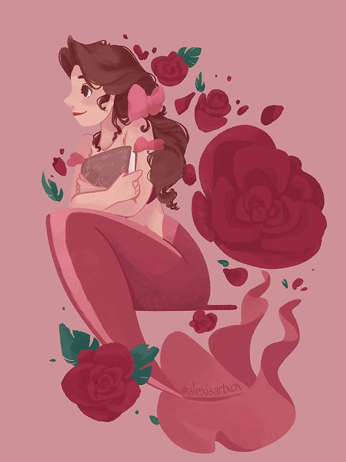 Belle Roses are Red MerMay 2021 Print