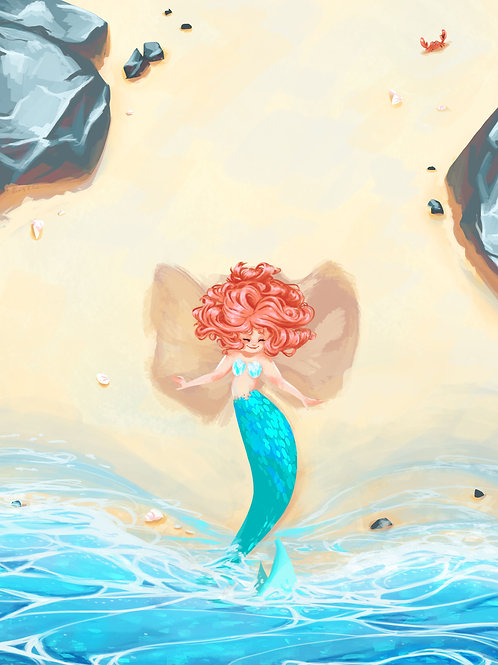 Sand Angel Art Print