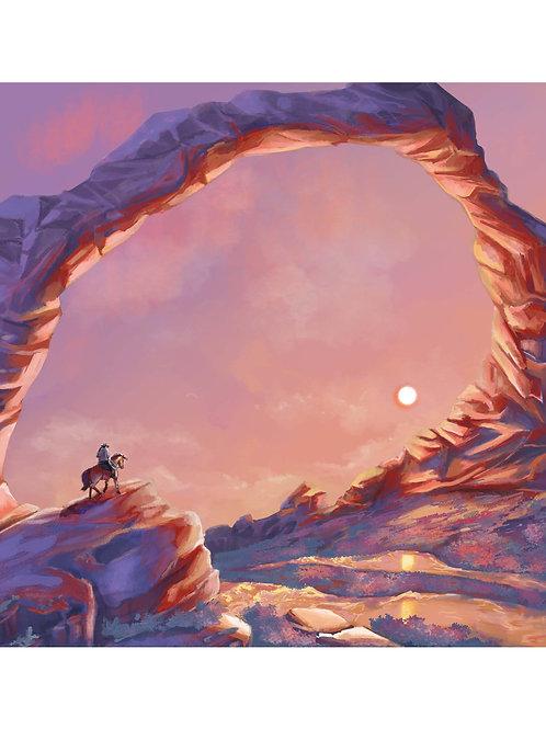 Wild West (Sunset Version) Art Print